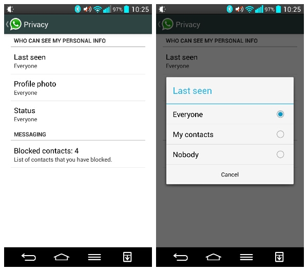 WhatsApp Update: Hide Your 'Last Seen', Photo and Status