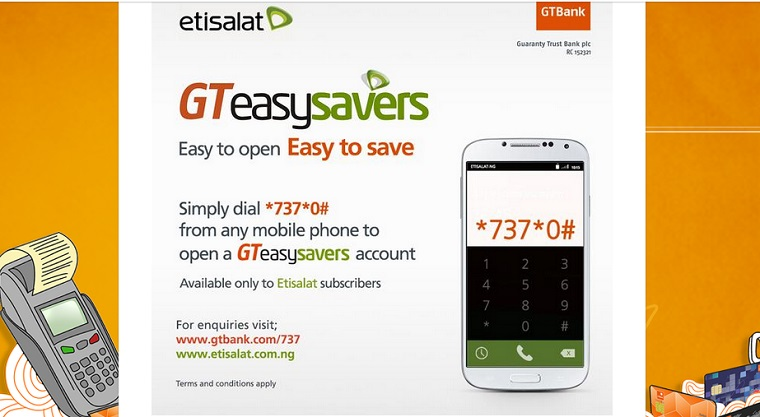 GTEasySavers: GTBank and Etisalat introduce bank account opening via USSD Short code