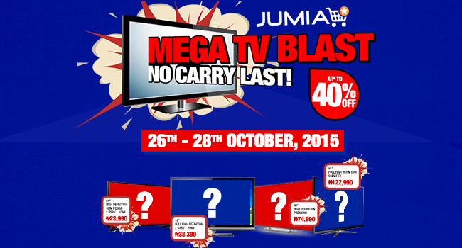 Enjoy up to 40% discount in the Jumia Mega TV Blast promo