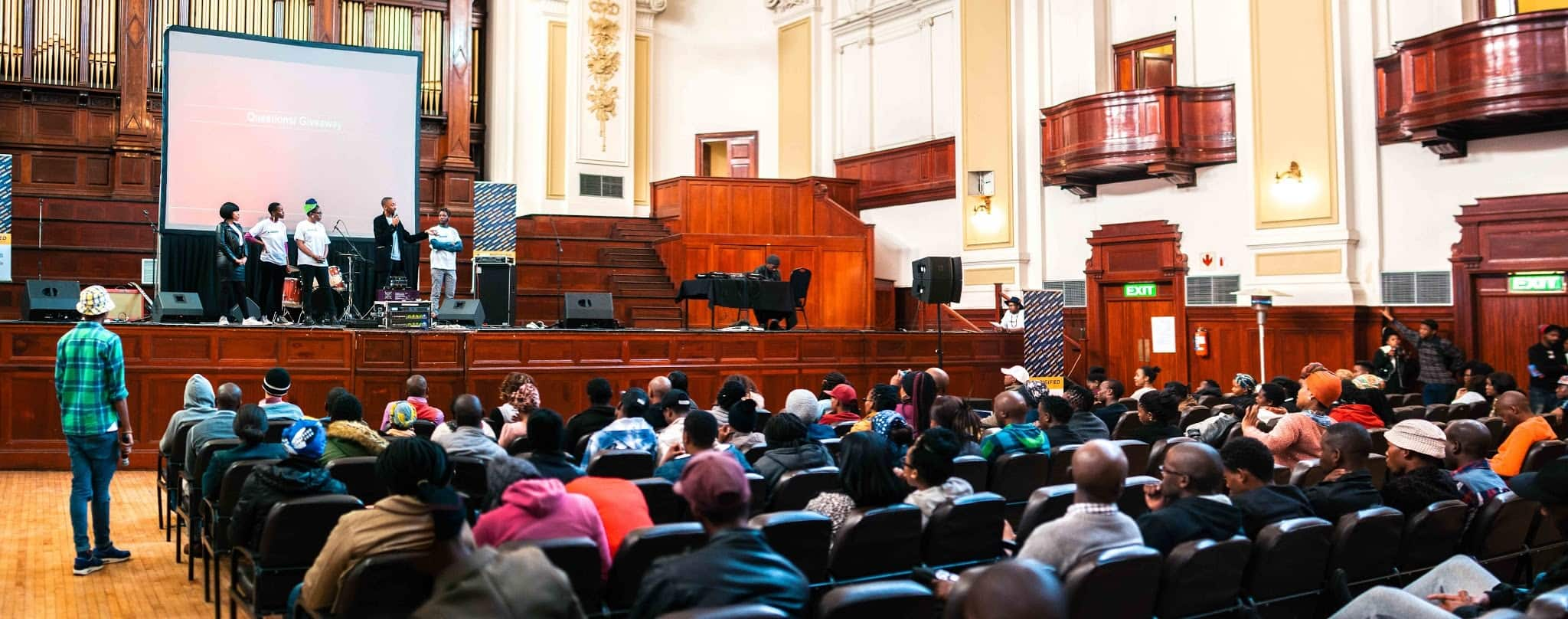 A recent Digital Skills training session at City Hall in Johannesburg, S. Africa